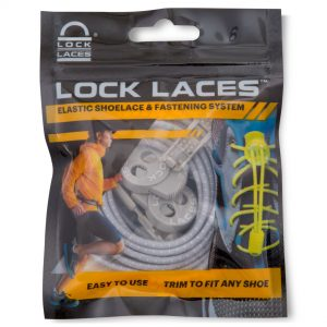 Lock Laces No Tie Shoelaces in Cool Grey by Lock Laces Online - Gym Ready - Australia