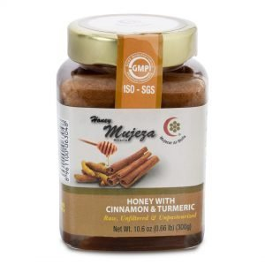 Honey with Cinnamon & Turmeric 300g by Mujeza Online - Gym Ready - Australia