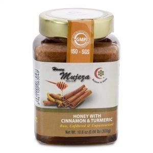 Honey with Cinnamon & Turmeric 300g by Mujeza Online - Gym Ready - Australia